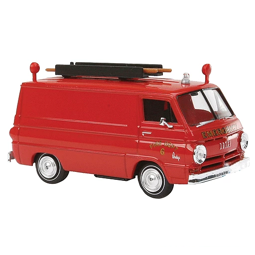 HO Scale: 1964 Dodge A 100 Panel Van w/ Ladder - Vista, New York Fire Rescue