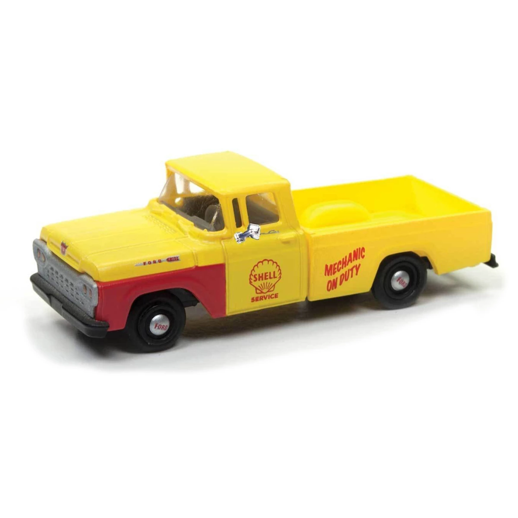 HO Scale: 1960 Ford F-100 Pickup Truck - Shell Service