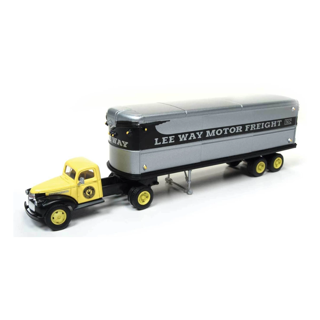HO Scale: 1941-46 Chevy Tractor/Trailer Set - Lee Way