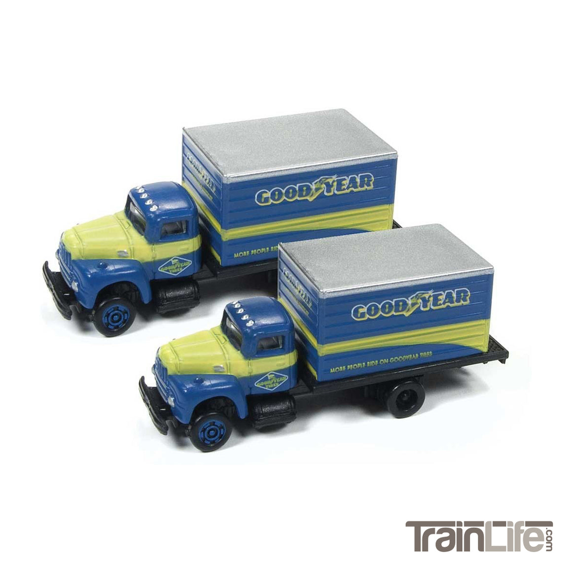 N Scale: IH R190 Delivery Box Truck - Goodyear - 2 Pack