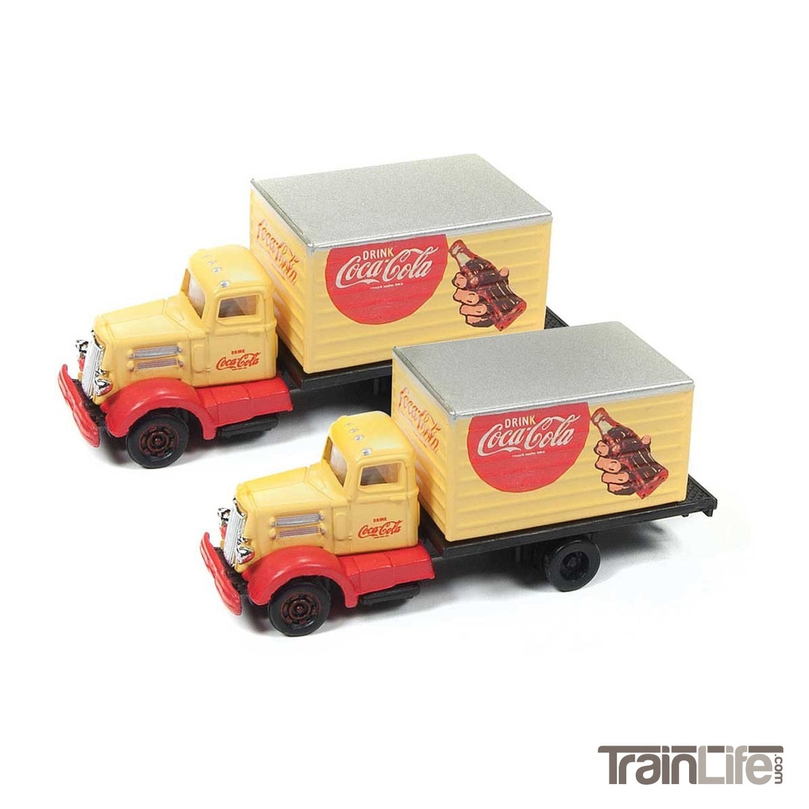 N Scale: IH R-190 Box Delivery Truck - Coca Cola - 2 Pack