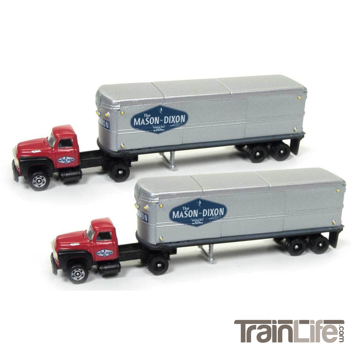 N Scale: 1954 Ford Tractor & Trailer Set - The Mason Dixon Line - 2 Pack