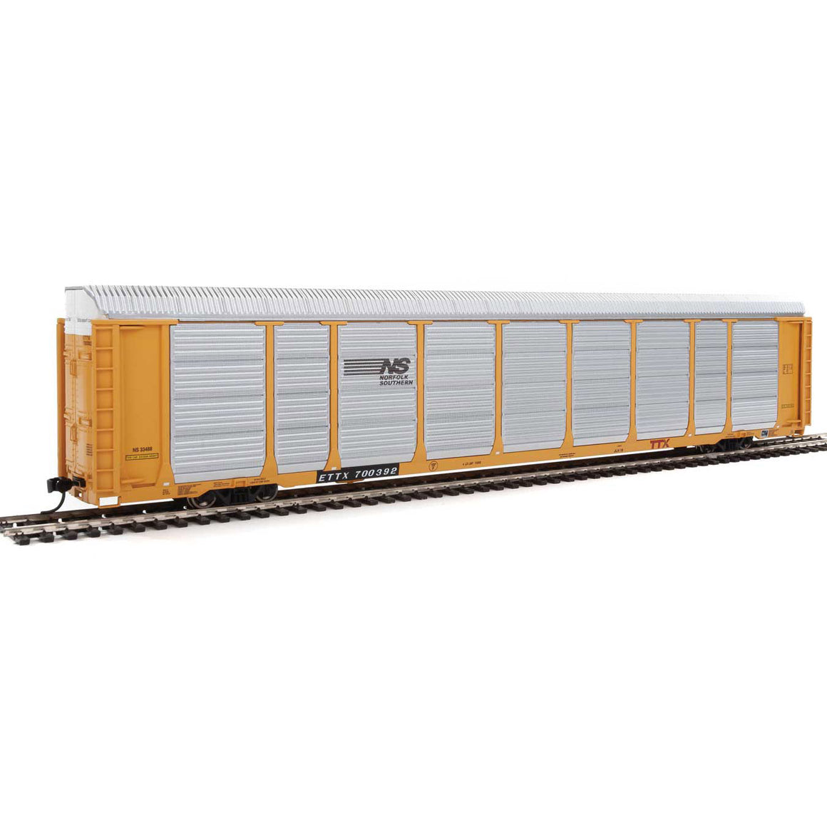 HO Scale: 89' Thrall Tri-Level Auto Carrier - Norfolk Southern