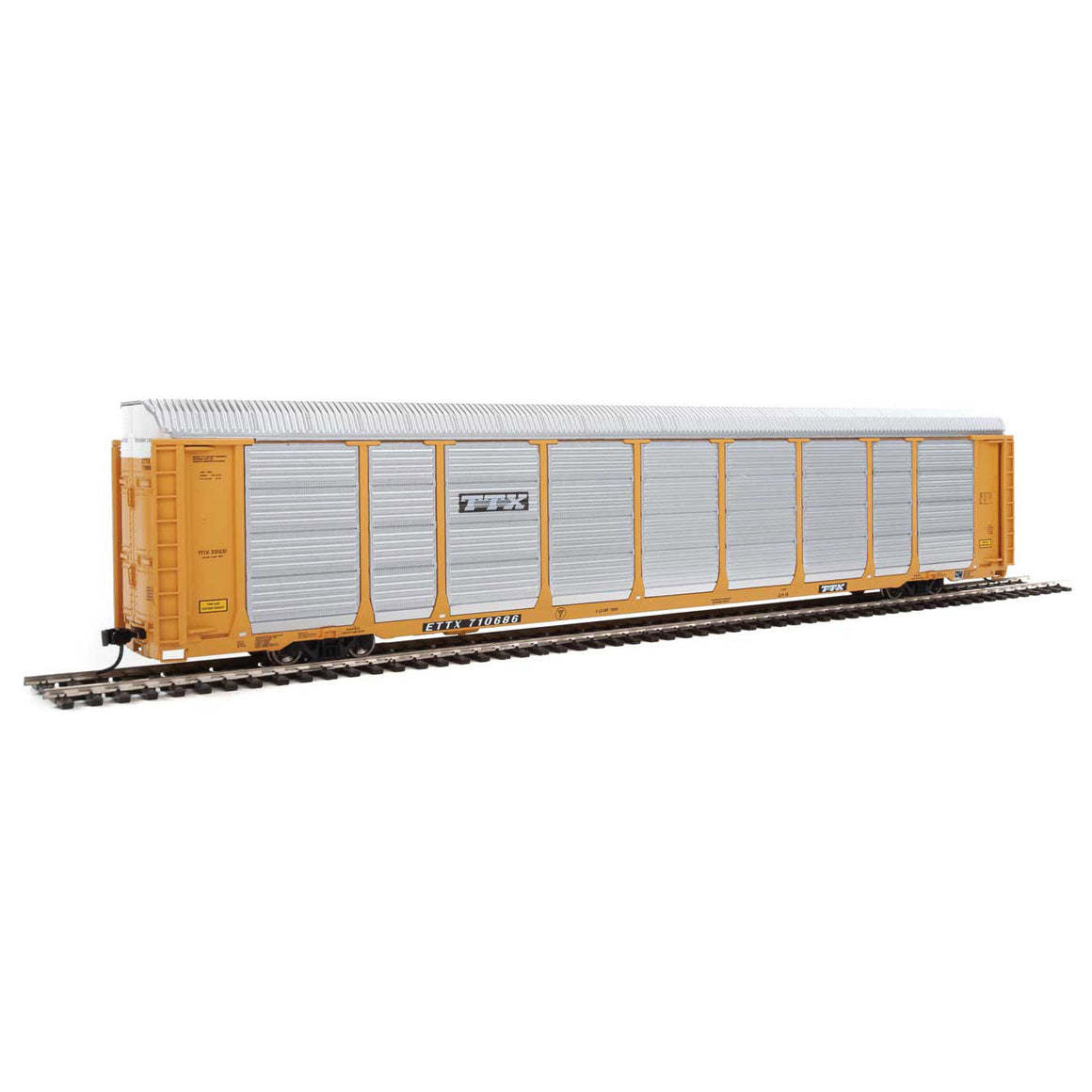 HO Scale: 89' Thrall Tri-Level Auto Carrier - TTX