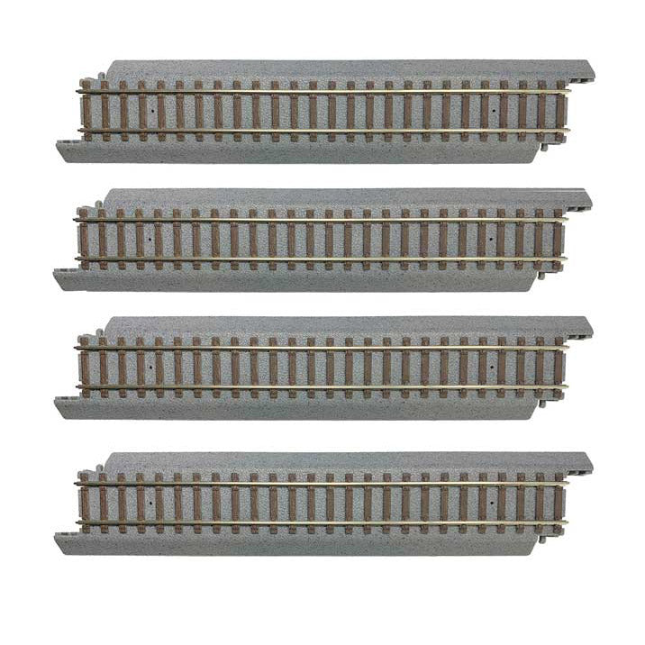 "HO Scale: Power-Loc Track™ - 9"" Straight Sections - 4 Pack"