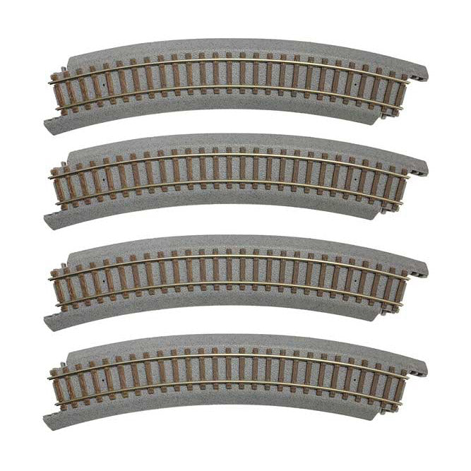 "HO Scale: Power-Loc Track™ - 18"" Radius Curve - 4 Pack"
