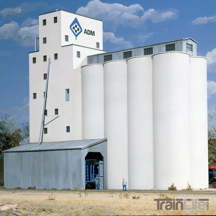 HO Scale: ADM® Concrete Grain Elevator - Kit