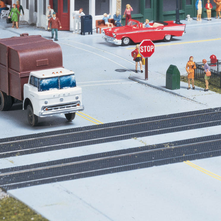 HO Scale: Rubber Mat Style Grade Crossing - Kit