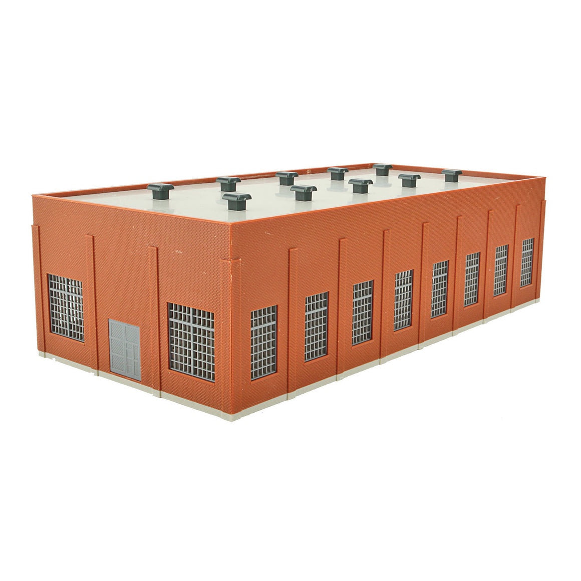 N Scale: Two-Stall 130' Brick Diesel House - Kit
