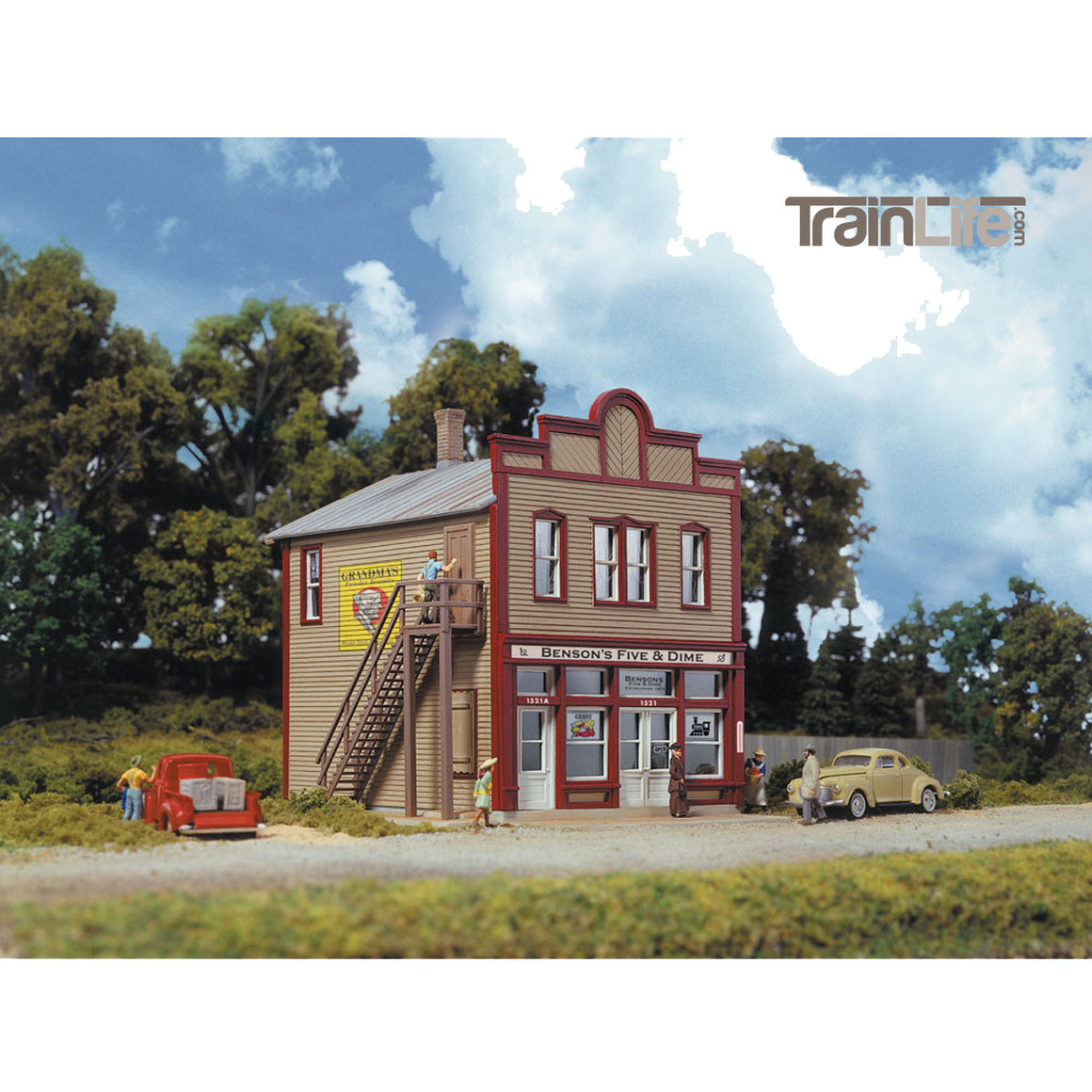 HO Scale Benson's Five and Dime from TrainLife