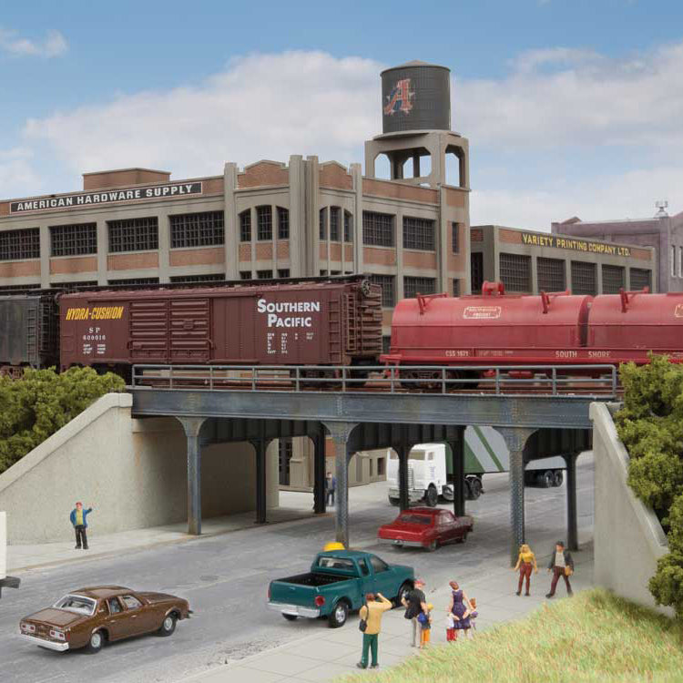 N Scale: Urban Steel Overpass