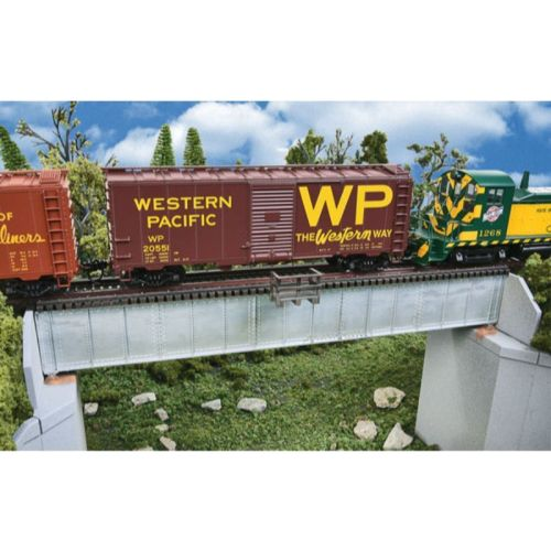HO Scale: 70' Single Track Railroad Deck Girder Bridge