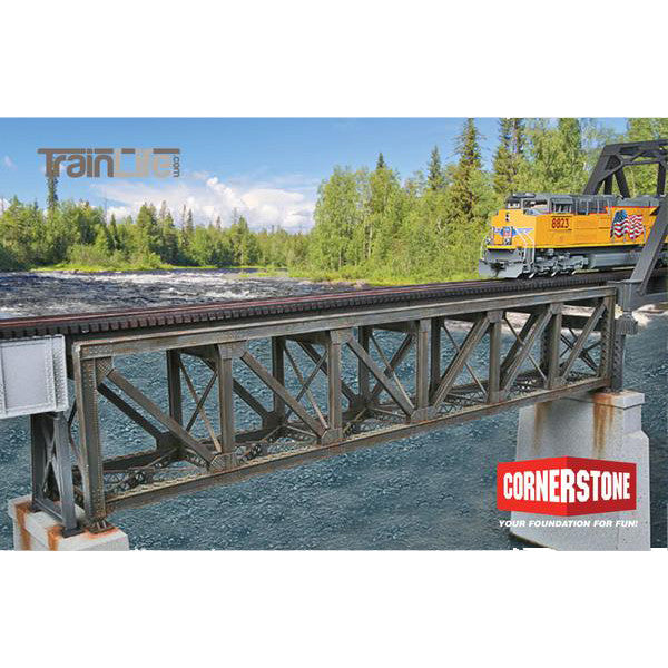 HO Scale: 109' Single-Track Pratt Deck Truss Railroad Bridge