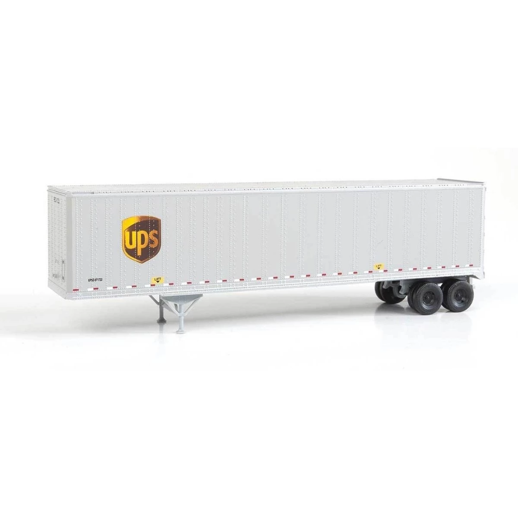 HO Scale: 45' Stoughton Trailer 2-Pack - UPS - Modern Logo