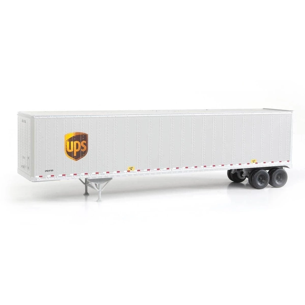 HO Scale: 48' Stoughton Trailer 2-Pack - UPS - Modern Logo