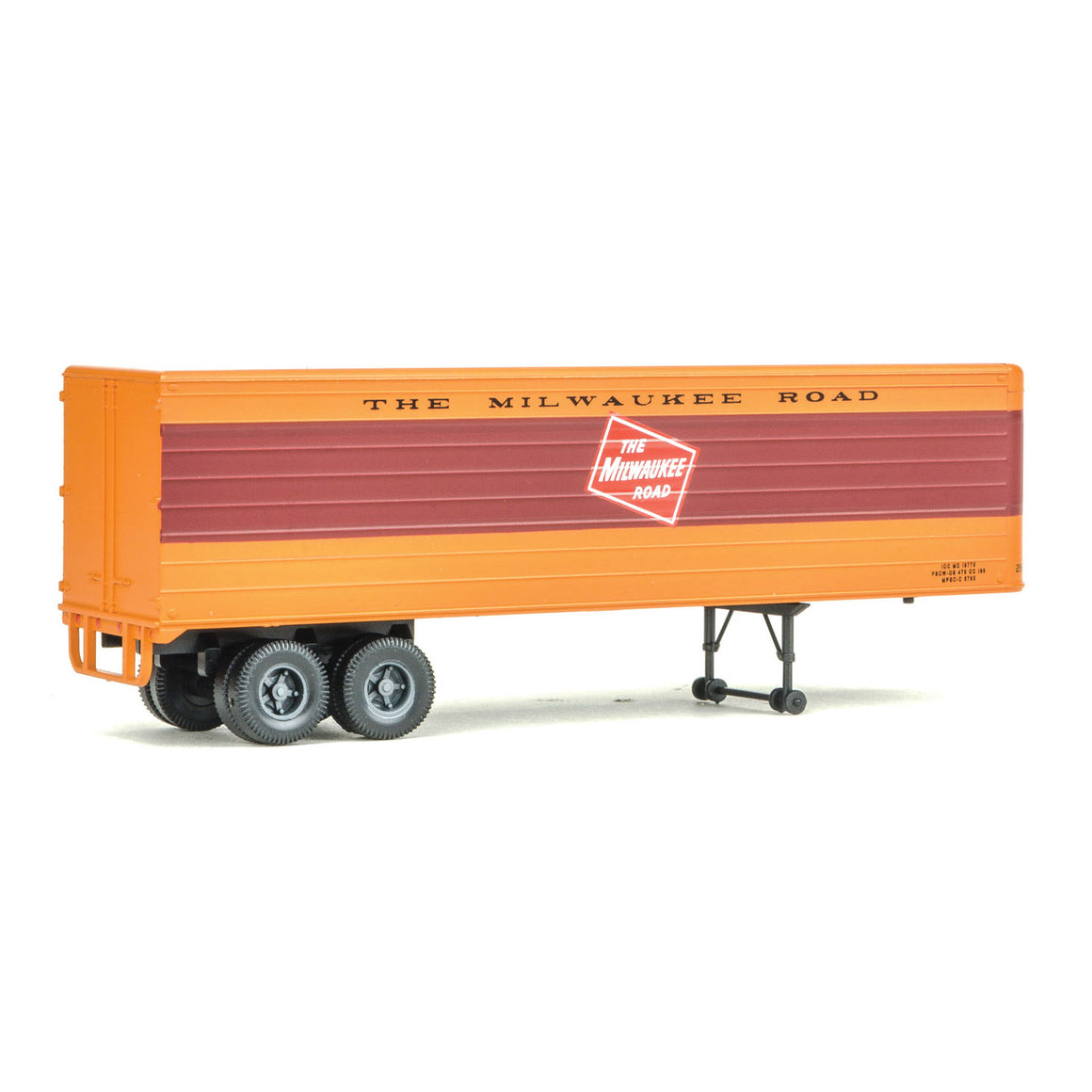 HO Scale: 35' Fluted-Side Trailer - Milwaukee Road - 2 Pack