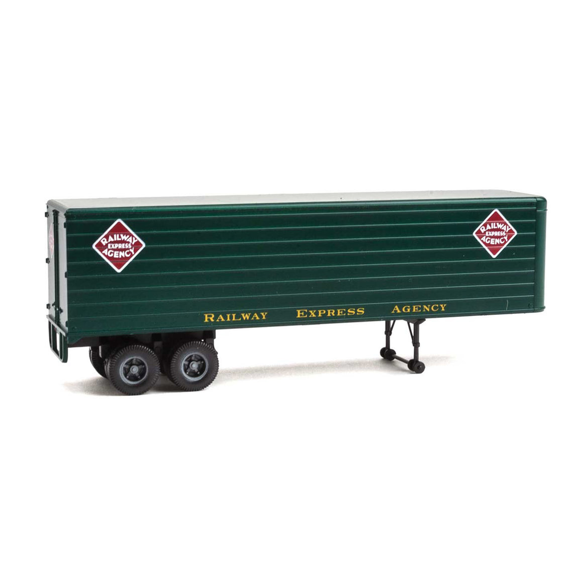 HO Scale: 35' Fluted-Side Trailer - Railway Express Agency - 2 Pack