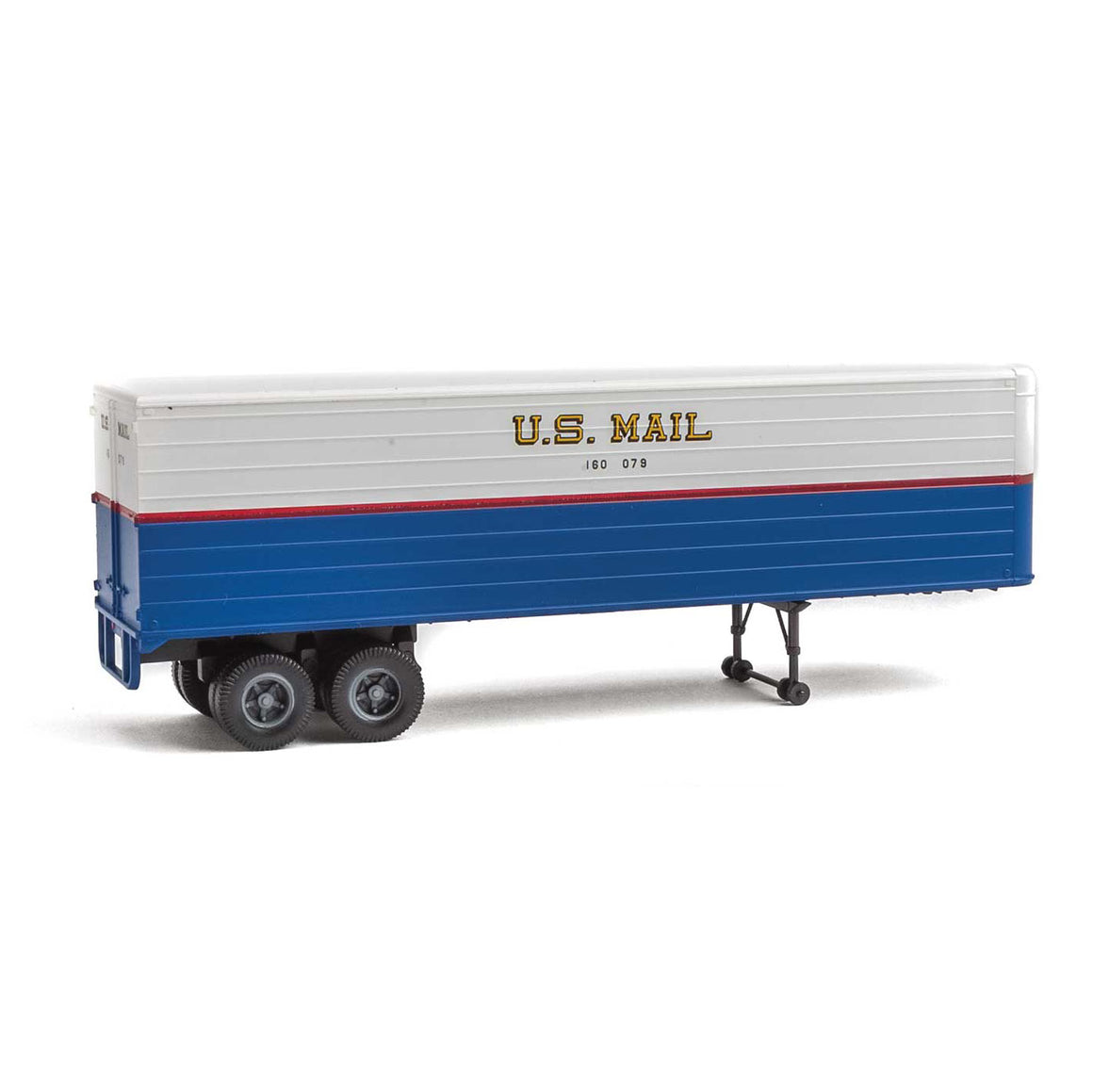 HO Scale: 35' Fluted-Side Trailer - US Mail - 2 Pack