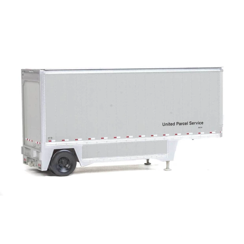 HO Scale: 26' Drop-Floor Trailer  2-Pack - UPS