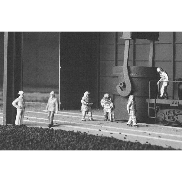 HO Scale: Blast Furnace Crew - 6 Pack