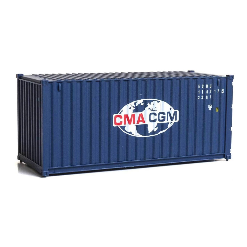 HO Scale: 20' Corrugated Container - CMA • CGM