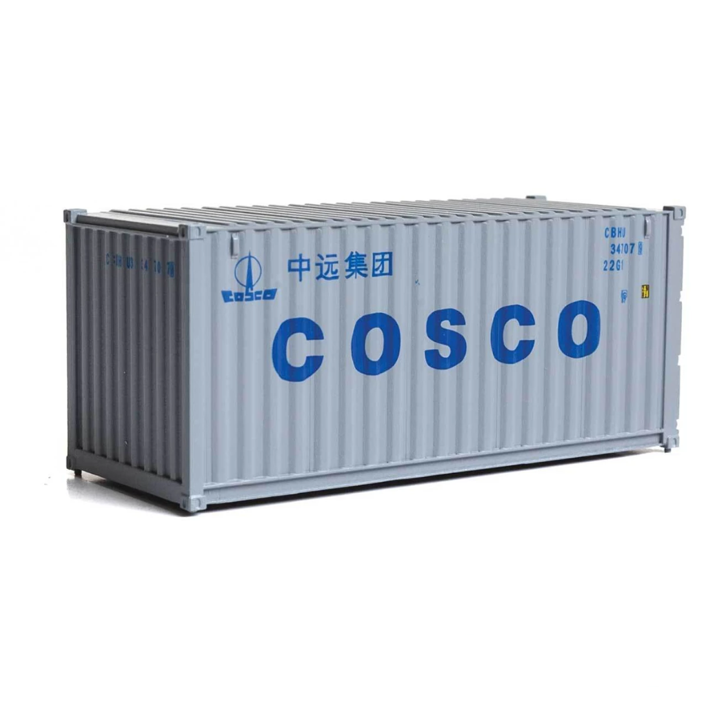 HO Scale: 20' Corrugated Container - COSCO
