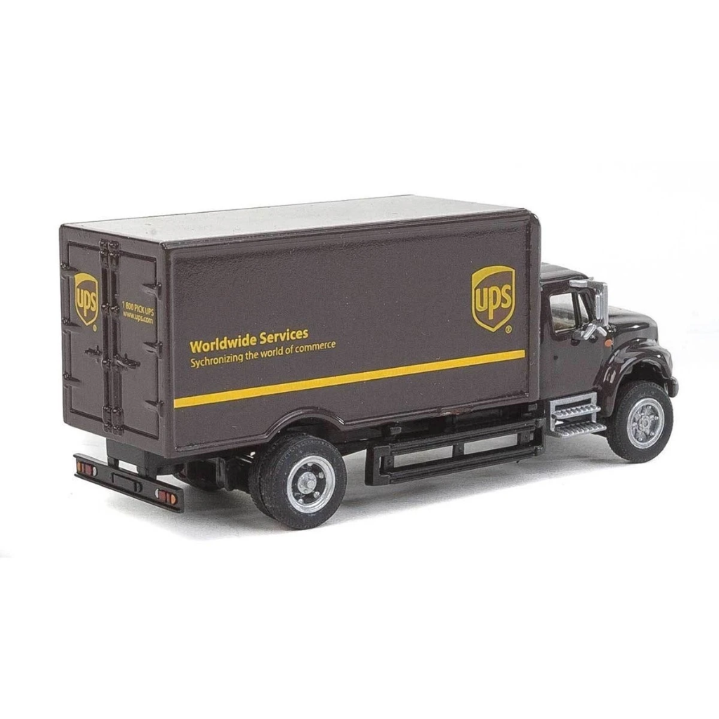 HO Scale: International® 4900 Single-Axle Box Van - UPS - Modern Logo