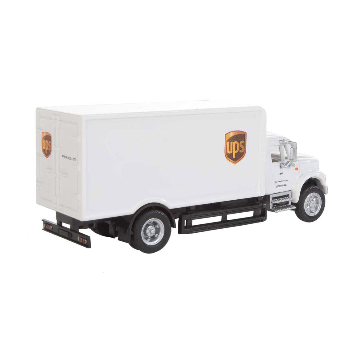 HO Scale: International® 4900 Single Axle Box Van - UPS 'Cartage Services'