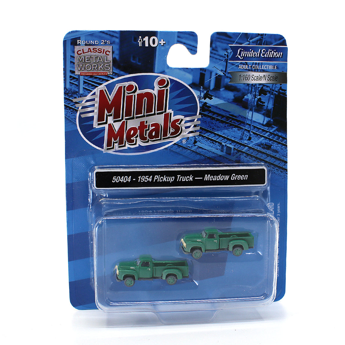 N Scale: 1954 Ford Pickup - Meadow Green - Weathered