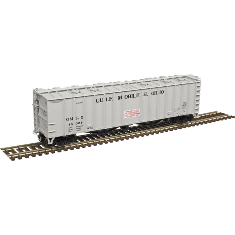 N Scale: 4180 Airslide Covered Hopper - Gulf Mobile & Ohio