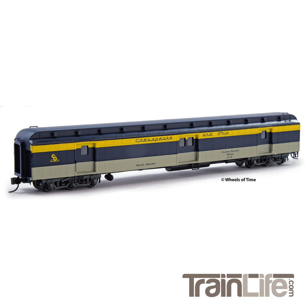N Scale: 80-ft Baggage-Horse Express Car - C&O