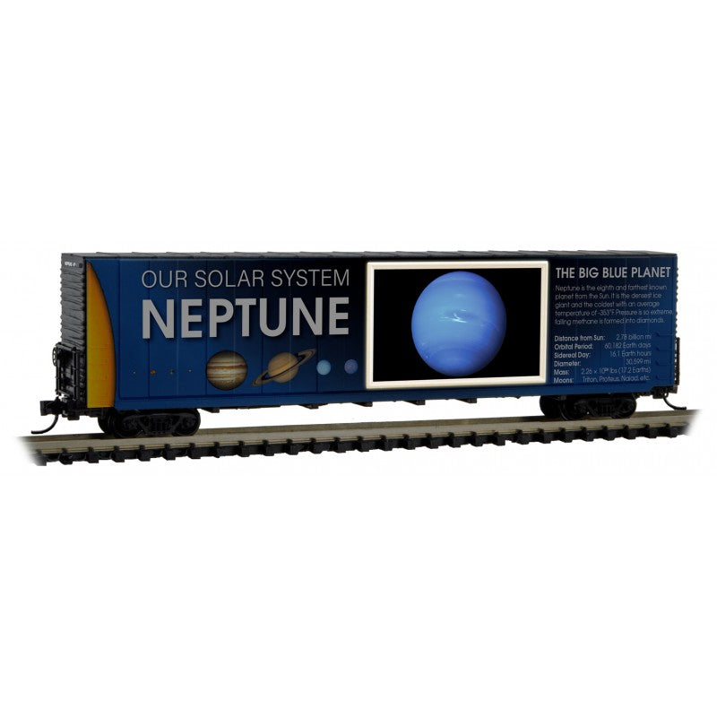 N Scale: 60' Excess Height Boxcar - Solar System Series - Neptune