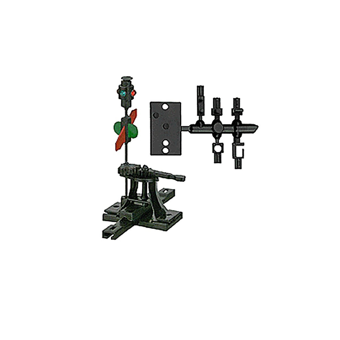 HO Scale: Sprung Manual Turnout Switch Stand w/ Adapters