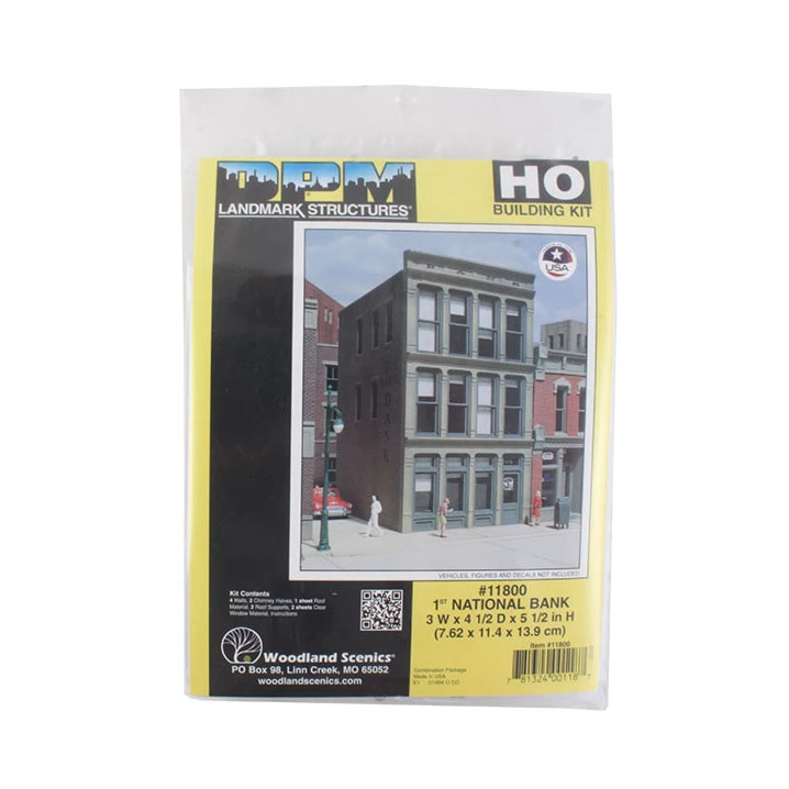 HO Scale: 1st National Bank - Kit