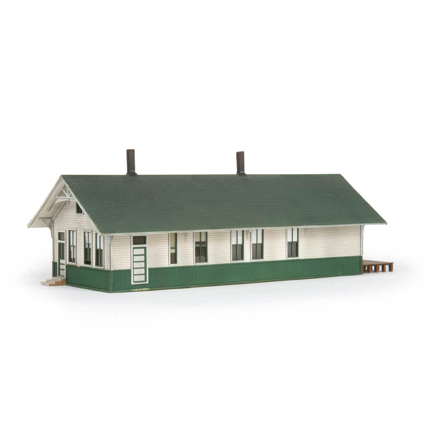 HO Scale: Standard Depot with Freight Dock - Union Pacific - Kit