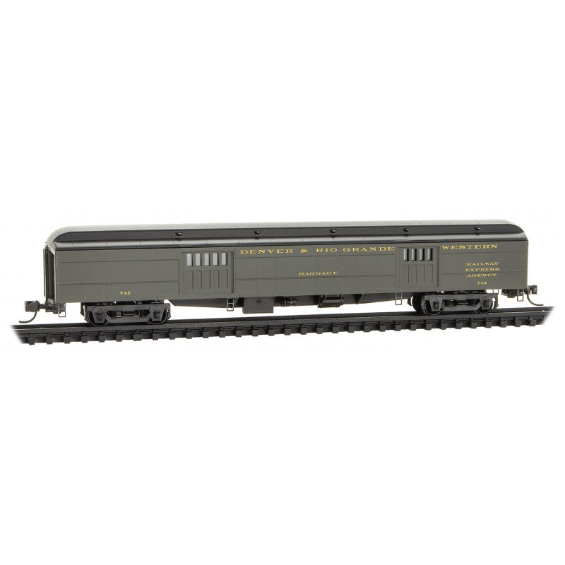 N Scale: 70' Heavyweight Baggage Car - Rio Grande