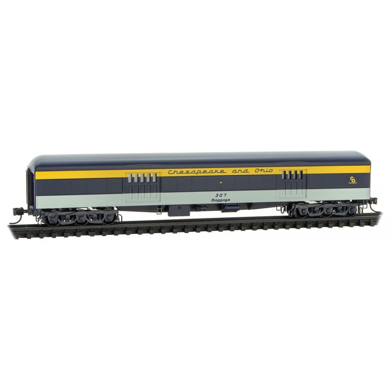 N Scale: 70' Heavyweight Baggage Car - Chesapeake & Ohio