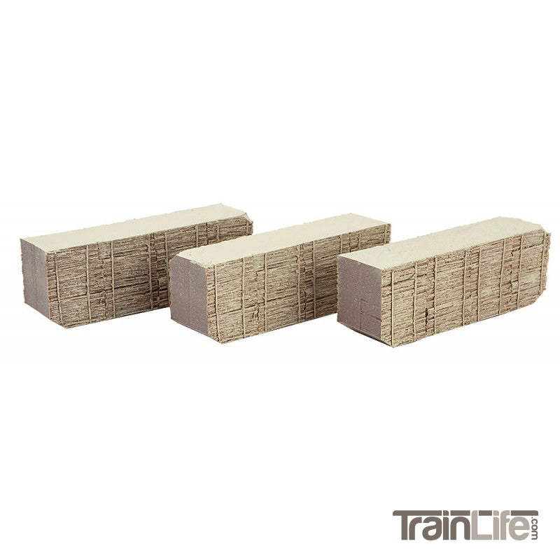N Scale: Box Car Wood Load - 3 Pack