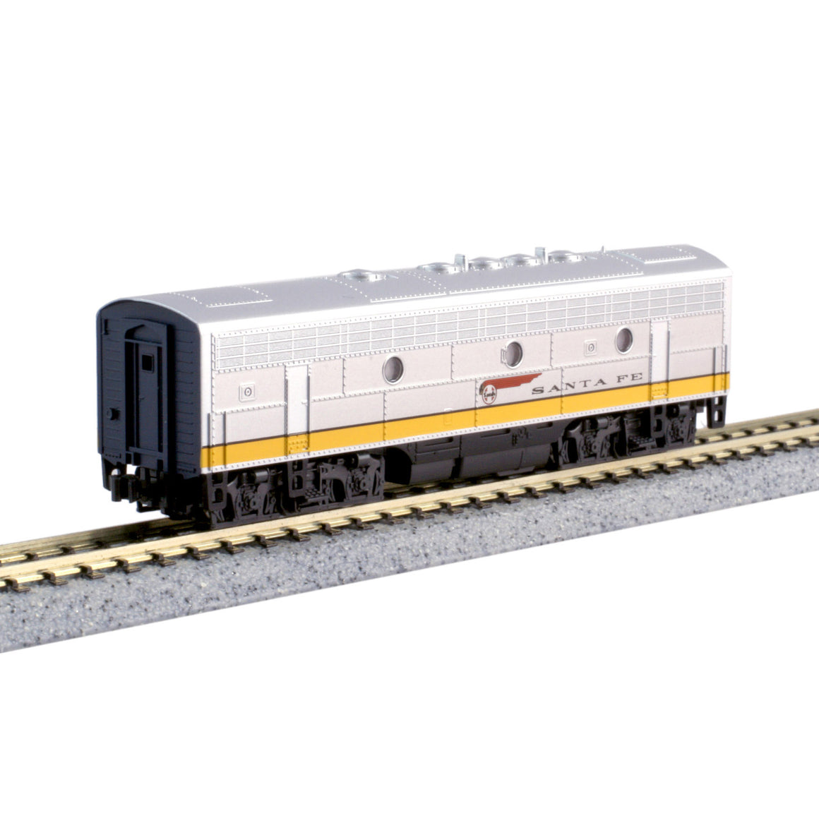 N Scale: EMD F7B 'No Steam Generator' - DCC Ready - Santa Fe