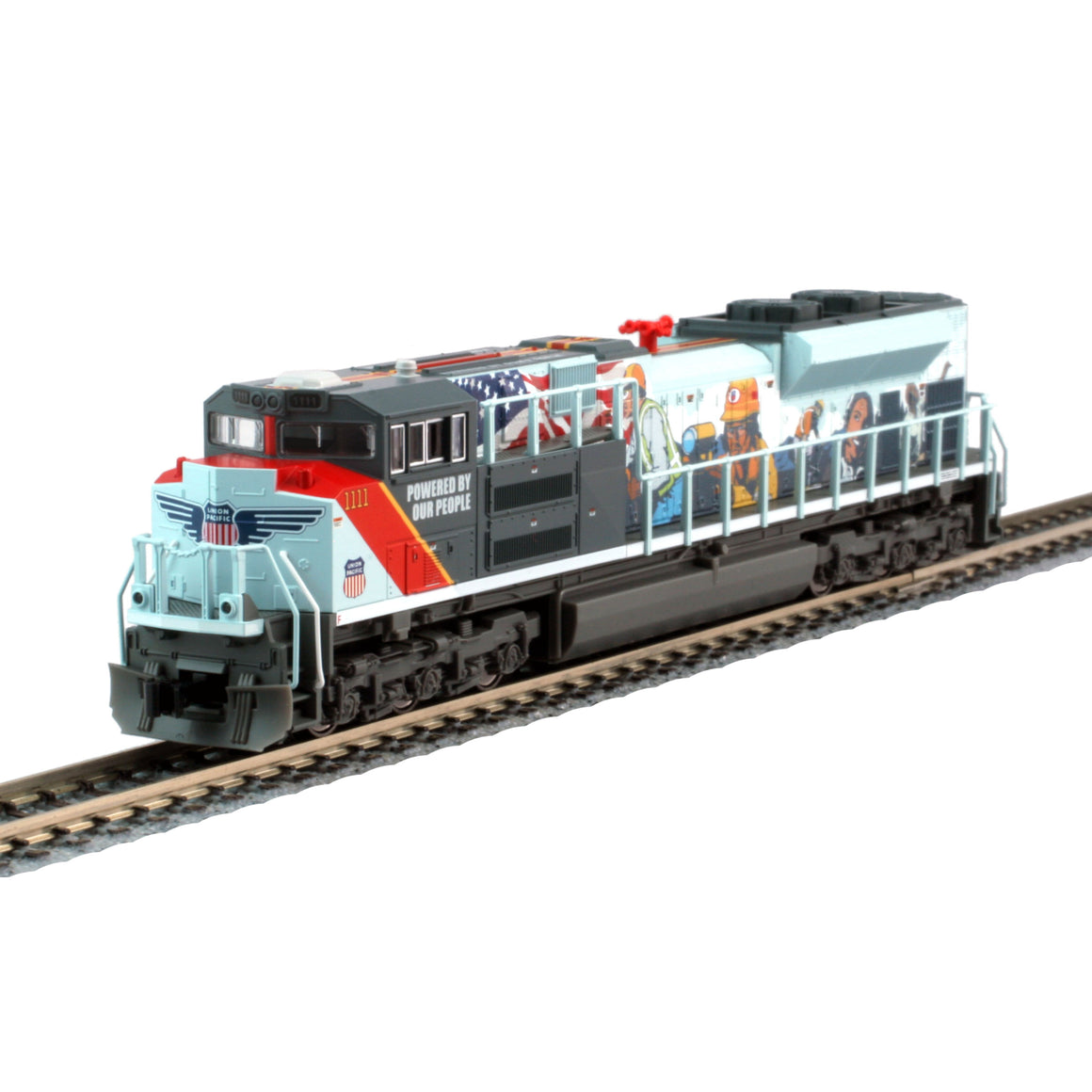 N Scale: EMD SD70ACe - DCC Ready - Union Pacific 'Powered by our People'