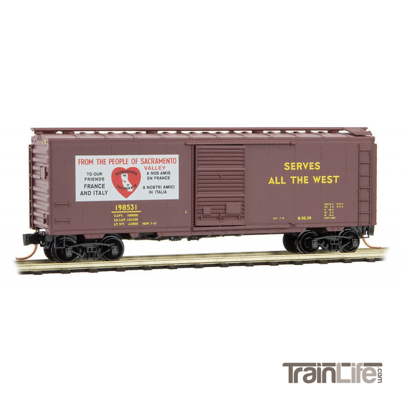 N Scale: 40' Standard Boxcar - Friendship Series #12 - SAC