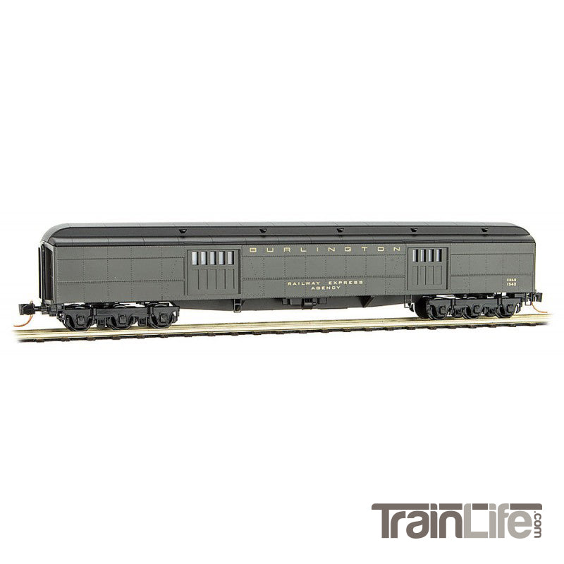 N Scale: 70' Heavyweight Baggage Car - CB&Q