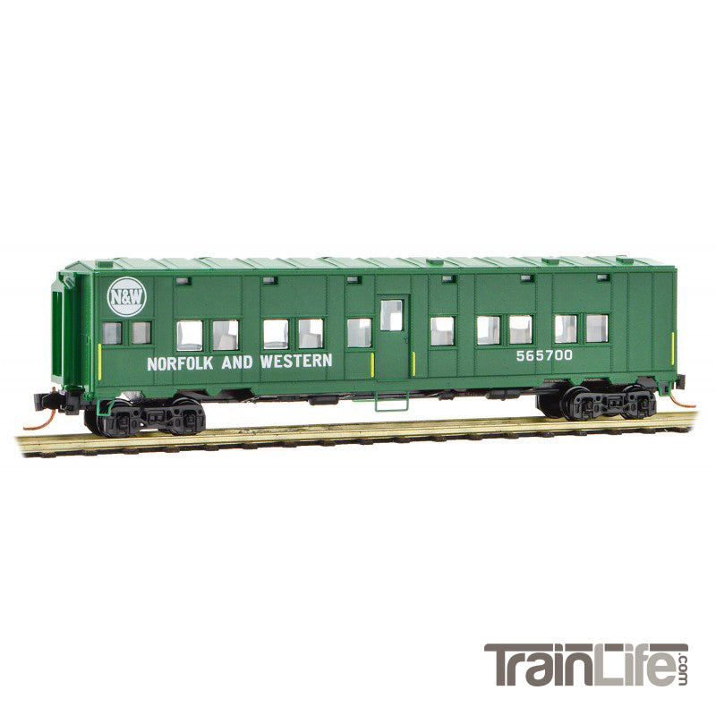 N-Scale: 50' Troop Sleeper Car - Norfolk & Western