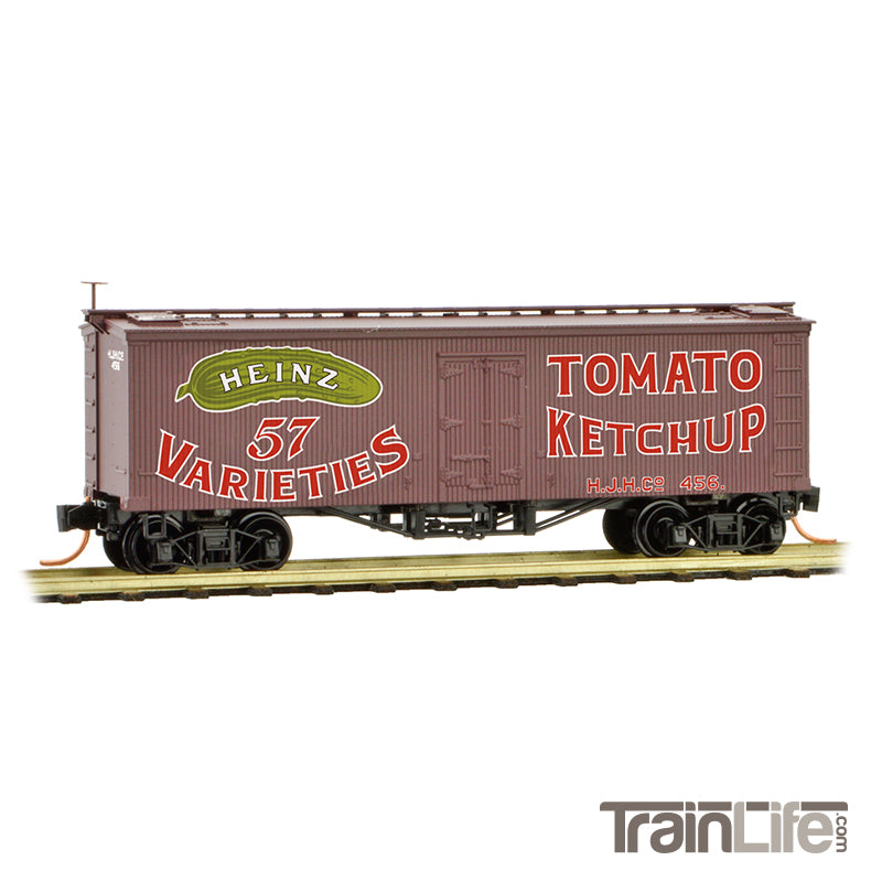 N Scale: 36' Wood Sheathed Ice Reefer - Heinz Series #12