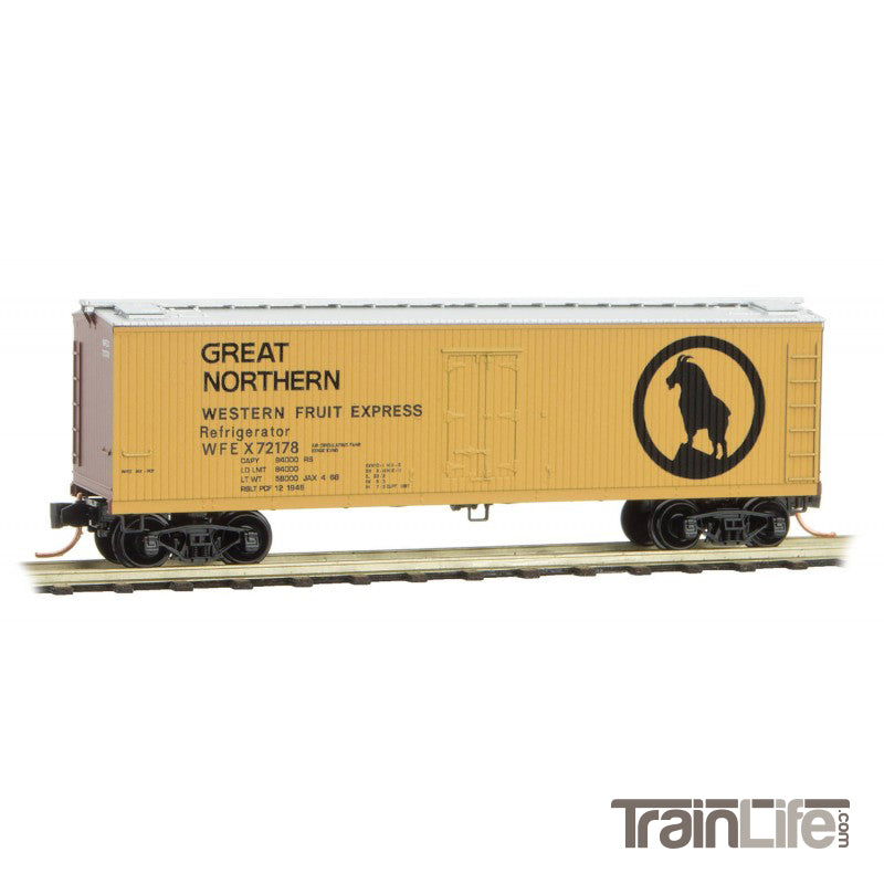 N Scale: 40' Double Sheathed Wood Reefer - Great Northern