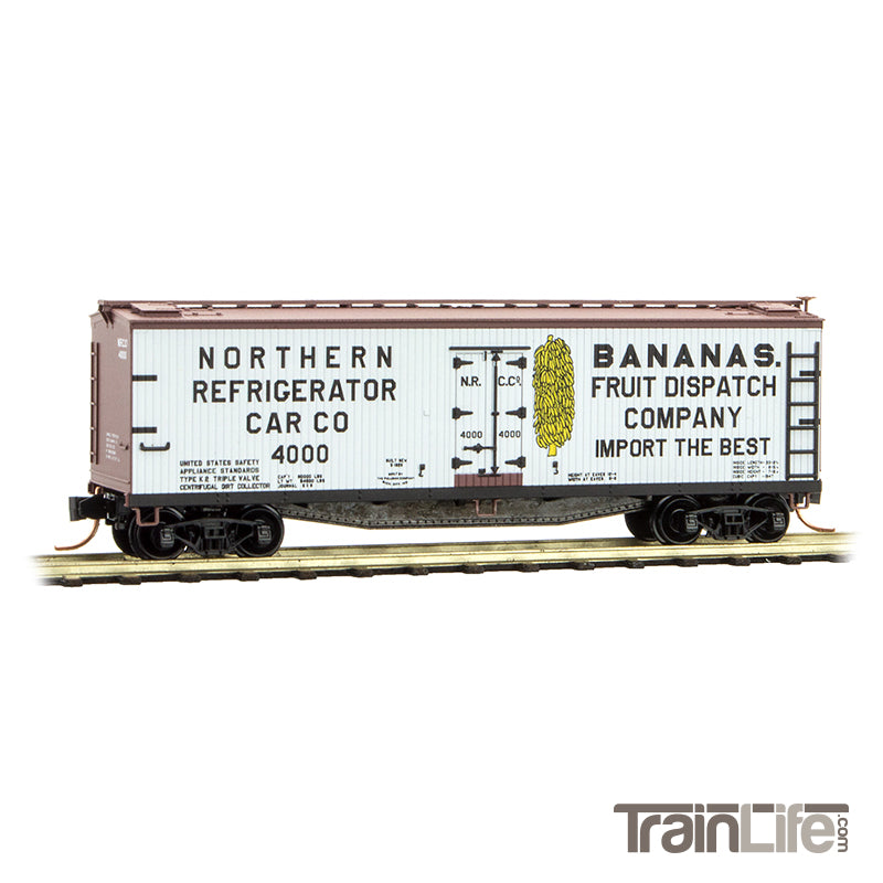 N Scale: 40' Double Sheathed Wood Reefer - Northern Refrigerator Car Company