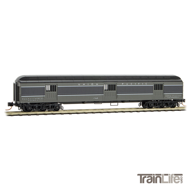 N Scale: 70' Heavyweight Horse Car - Union Pacific