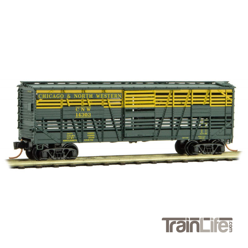 N Scale: 40' Despatch Stock Car - Chicago & North Western