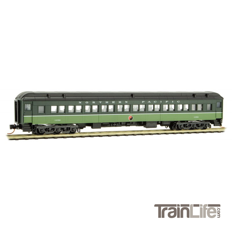 N Scale: 78' Heavyweight Paired-Window Coach - Northern Pacific