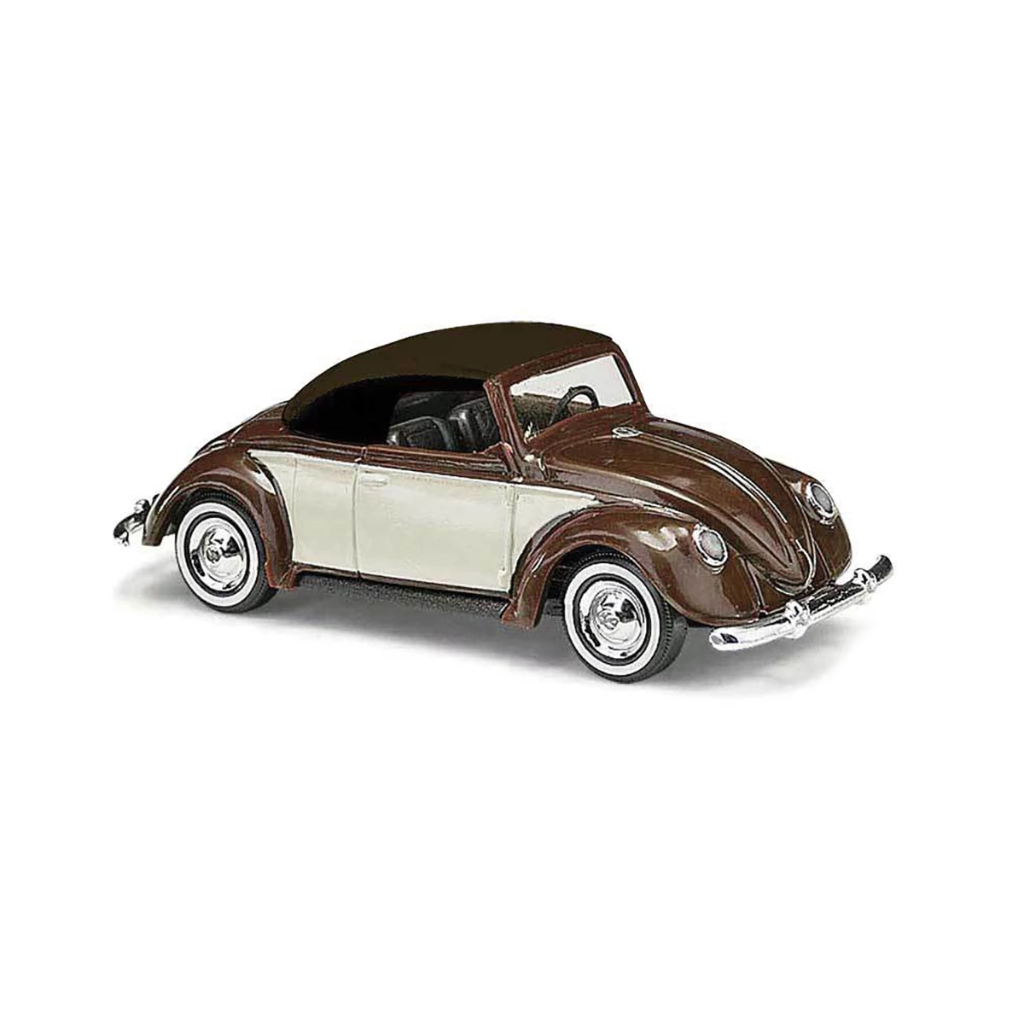 HO Scale: 1949 Volkswagen Beetle Convertible - Brown & White